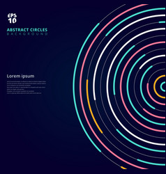 Abstract template colorful lines bright circles vector