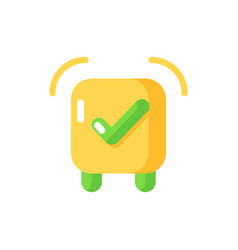 Alarm clock app flat color icon vector
