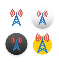 Antenna icon on white vector