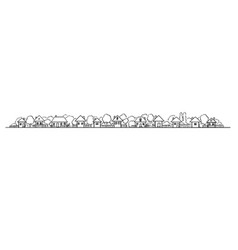 artistic and drawing classic village buildings vector image