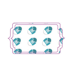 baby shoe frame vector image