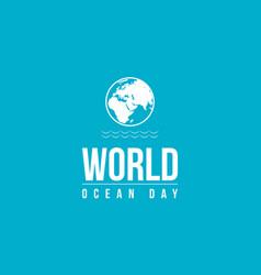 Background ocean day vector