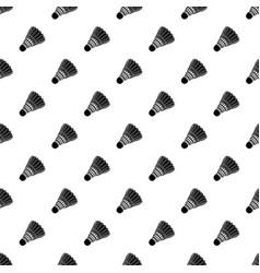 badminton pattern seamless vector image