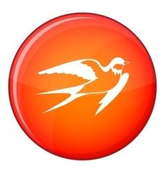 Barn swallow icon flat style vector