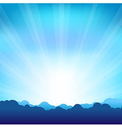 Beams And Cloud vector image