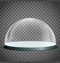 Blank glass dome vector