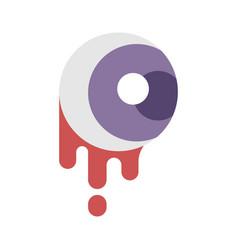 Blood eye flat vector