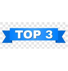 blue tape with top 3 text vector image