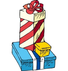 Boxes With Gifts vector image