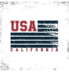 california usa typography t-shirt graphics stamp vector image