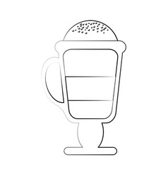 capuccino delicious cup vector image