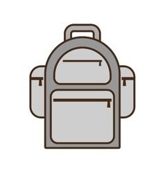 cartoon backpack traveler vacation vector image