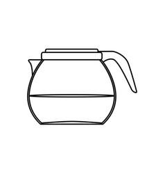 coffee glass pot vector image