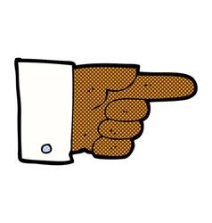 comic cartoon pointing hand vector image