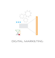 corporate business strategy digital marketing vector image