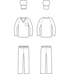 culinary suit vector image