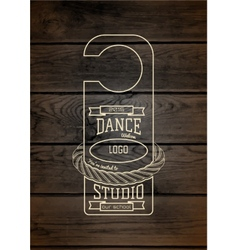 Dance studio badges logos and labels for any use vector image