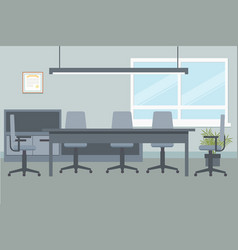 design of office environment for executive meeting vector image