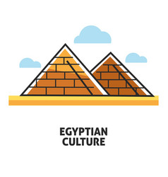 Egyptian culture promotional poster with famous vector