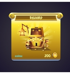 example window in a computer game rewards vector image