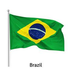 flag federative republic brazil vector image