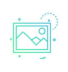 Gallery icon design vector