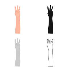 gesture single icon in cartoon stylegesture vector image