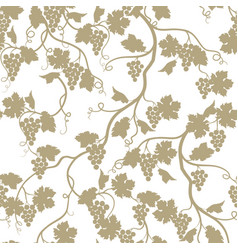 grape garden seamless pattern nature branch vector image