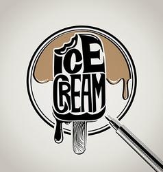 ice cream typography logo design vector image