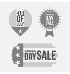 Independence Day 4th of July festive Banners Set vector image