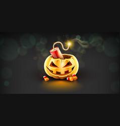 jack-o-lantern pumpkin head vector image