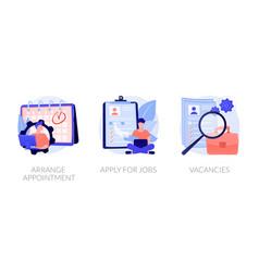 Job application concept metaphors vector