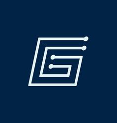 Letter g font maze italic geometric vector