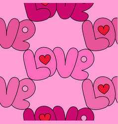 love pink seamless pattern vector image