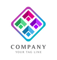 modern abstract logo template for digital vector image