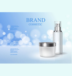 Moisturizing cosmetic products ad skin care vector