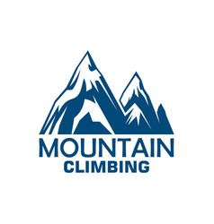 Mountain climbing adventure badge for sport design vector