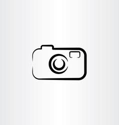 photo camera icon design black symbol vector image