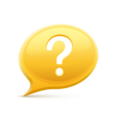 question in chat vector image
