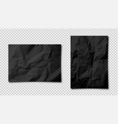 realistic blank crumpled paper sheets in a4 size vector image