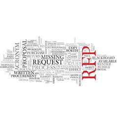 Rfp word cloud concept vector