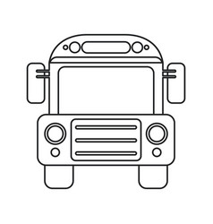 school bus transport design thin line vector image