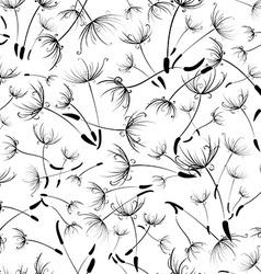 Seamless dandelion texture vector