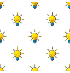 Seamless pattern with light bulbs vector