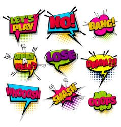 Set hand drawn effects comic speech bubbles vector