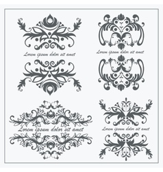 Set logos baroque ornament vector image