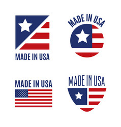 Set of made in the usa logo labels vector