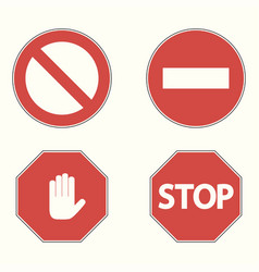 set of prohibitory road signs vector image