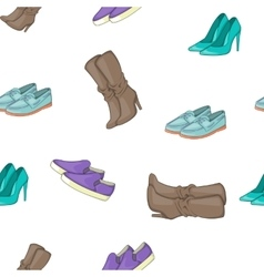 Shoe pattern cartoon style vector