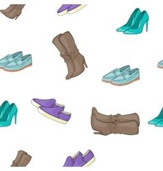 Shoe pattern cartoon style vector